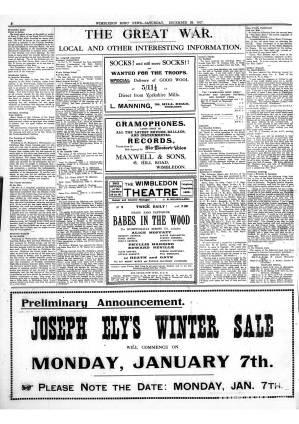 29 DECEMBER 1917
