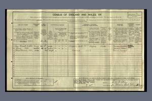 1911 Census for 3 Pretoria Maisonettes, 25 Robinson Road, Colliers Wood