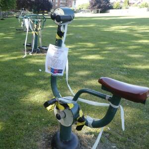 Closed exercise equipment, Ledbury recreation ground