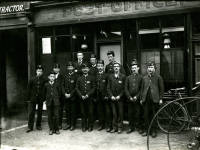 Mitcham Post Office: Postmen outside