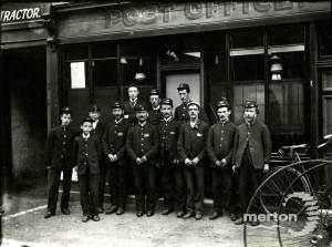 Mitcham Post Office: Postmen outside