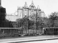 Eagle House, Mitcham:  Wrought iron gates