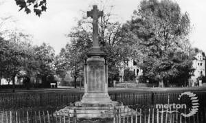 War memorial at Lower Green, Mitcham