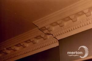 Long Lodge, Kingston Road, Merton Park: Coved ceiling, east wing