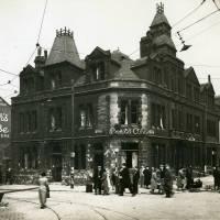 Corner of Strand Road and Stanley Road, bomb damage, Blitz