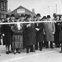 The official opening of a section of Southport Road, Bootle, 1939