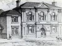 Wimbledon Town Hall: Drawing of the original building