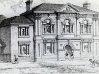 Wimbledon Town Hall: Drawing of the original building