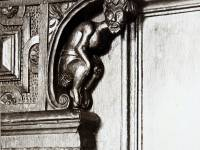 Ornate wooden carving, interior of Cannizaro House, Wimbledon