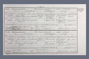 Marriage Certificate - James Twyman