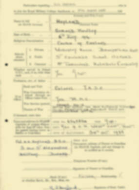 RMC Form 18A Personal Detail Sheets Aug 1935 Intake - page 100