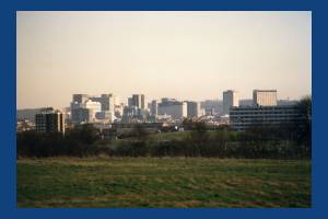 View of Pollards Hill from Mitcham Common