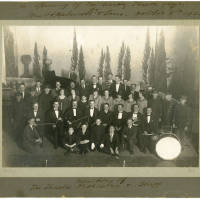 Photograph - Re-Opening of Gaiety Theatre in 1925 - Orchestra and Theatre Staff