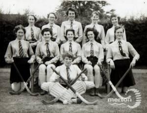 Wimbledon County School for Girls:  Hockey team, 1956-7