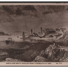 North and South Shields from Tynemouth in 1820