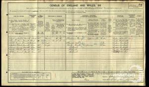 1911 Census - 27 Sydney Road, Raynes Park