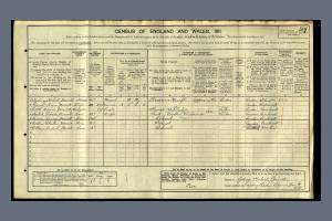 1911 Census - 27 Sysdney Road, Raynes Park