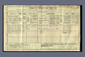 1911 Census - 27 Sysdney Road, Raynes Park