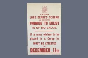 1915 Derby Scheme Recruitment Poster