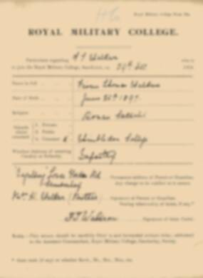 RMC Form 18A Personal Detail Sheets Jan 1915 Intake - page 365
