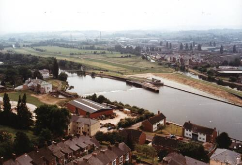 Views from St. Leonard's steeple, Exeter Quay, 1993, Exeter