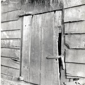 Longtown, Herefordshire, wooden barn door