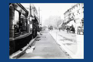 Wimbledon Hill Road: Tramway construction