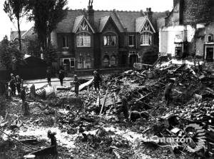 Bomb damage in Richmond Avenue, Merton