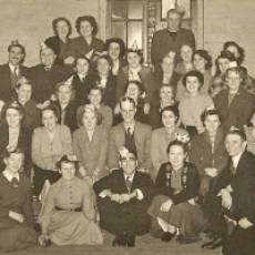 1950s Christmas Social in the Old National School Building