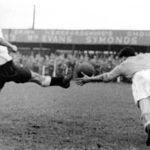 Edgar Street goalmouth action, 1960s.