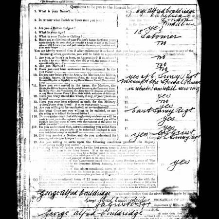 Service record - Enlistment