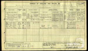 1911 Census - 11 Southdean Gardens, Wimbledon Park