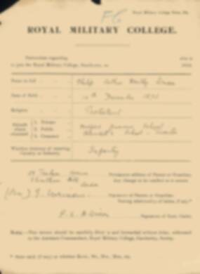 RMC Form 18A Personal Detail Sheets Jan 1915 Intake - page 386