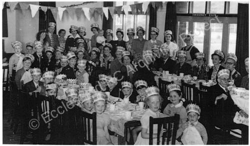 Coronation celebration 1953 at Miners Welfare, Chapeltown