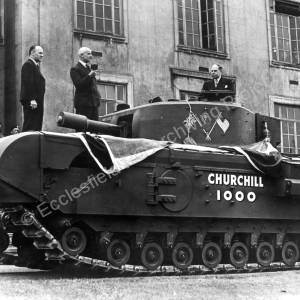 Churchill Tank outside the Newton Chambers office