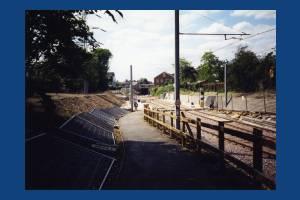 Croydon Tramlink - Construction - Mitcham Tramstop