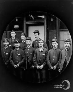 Postmen pictured at the post office near Mitcham Station
