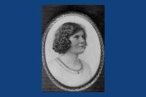 Miss M.H. Jaffrey: miniature by Dorothy Kenrick
