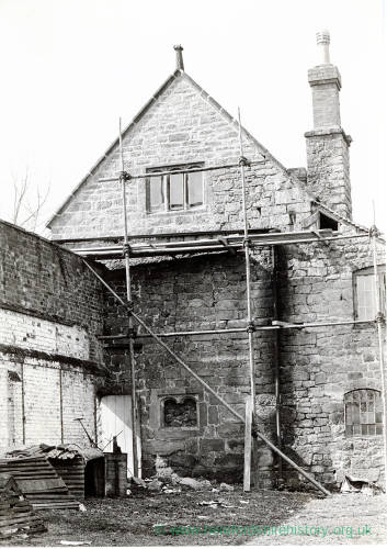 Withington Court gable under repair, 1921