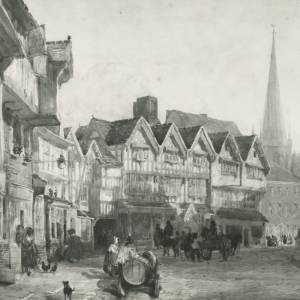 Butchers Row, Hereford by D Cox