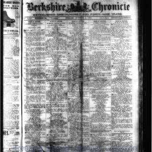 Berkshire Chronicle Reading 10-1919