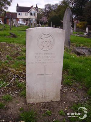 Gravestone of F W Hobson