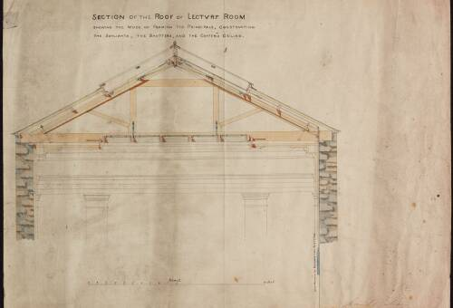 Section of the roof of lecture room, Devon and Exeter Institution