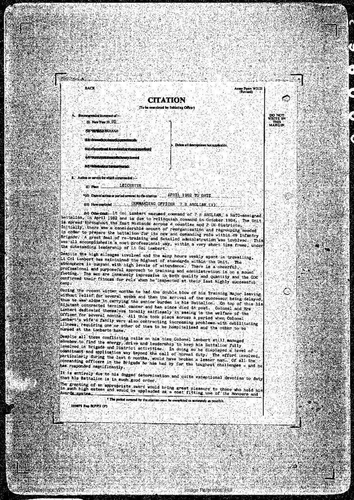 301 Lambert OBE citation 31 Dec 84-2.jpg