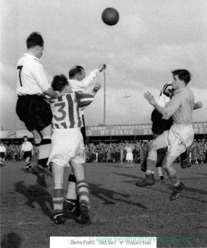 Hereford United v Nuneaton at Edgar Street, 1950s.
