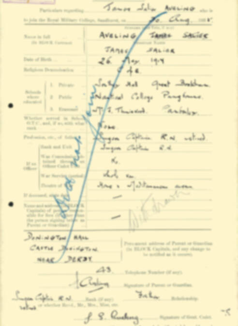 RMC Form 18A Personal Detail Sheets Aug 1935 Intake - page 17