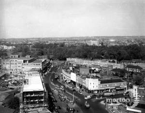 London Road, Morden: Morden town centre, Aerial view