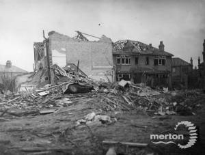 Bombed houses in St. Mark's Church area, Mitcham