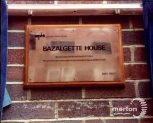 The opening of Bazalgette House, Wimbledon 1983