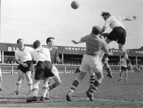Hereford United attacking at Edgar Street, 1950s.